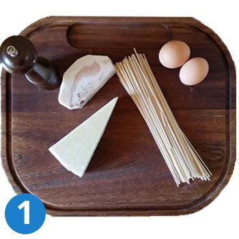 ingredienti della pasta alla carbonara